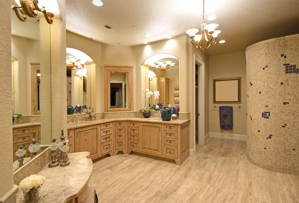 Phoenix Tile 30 Bathrooms with L-Shaped Vanities