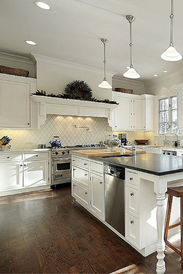 Top 38 best white kitchen designs 2017 edition for Kitchen designs with white cabinets
