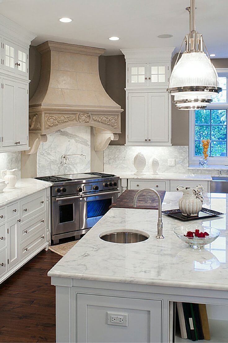 Top 38 best white kitchen designs 2017 edition for Best kitchen