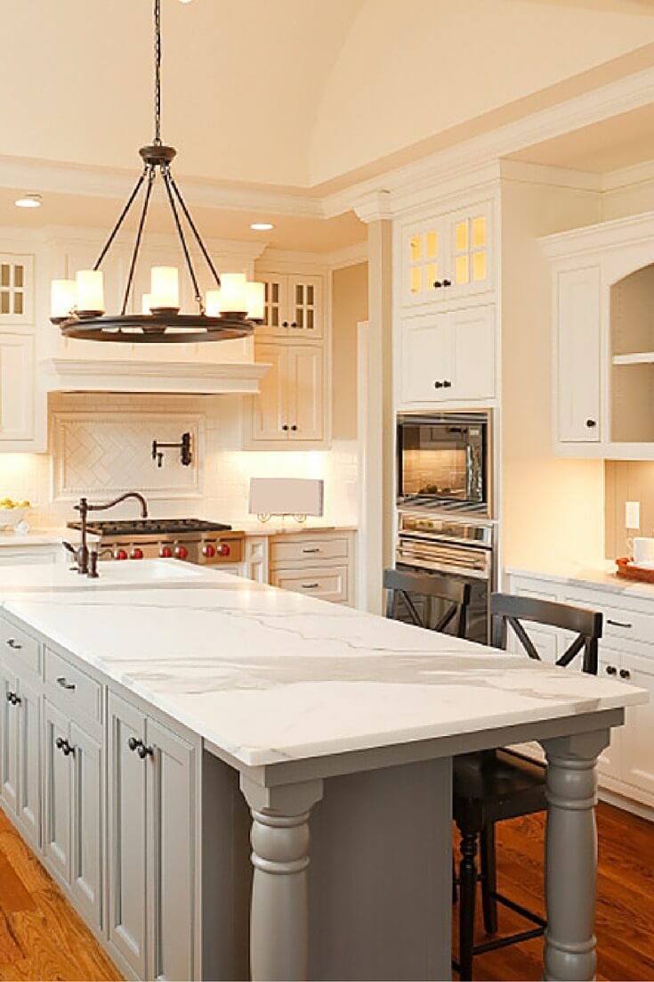 Top 38 best white kitchen designs 2017 edition for Design for kitchen island