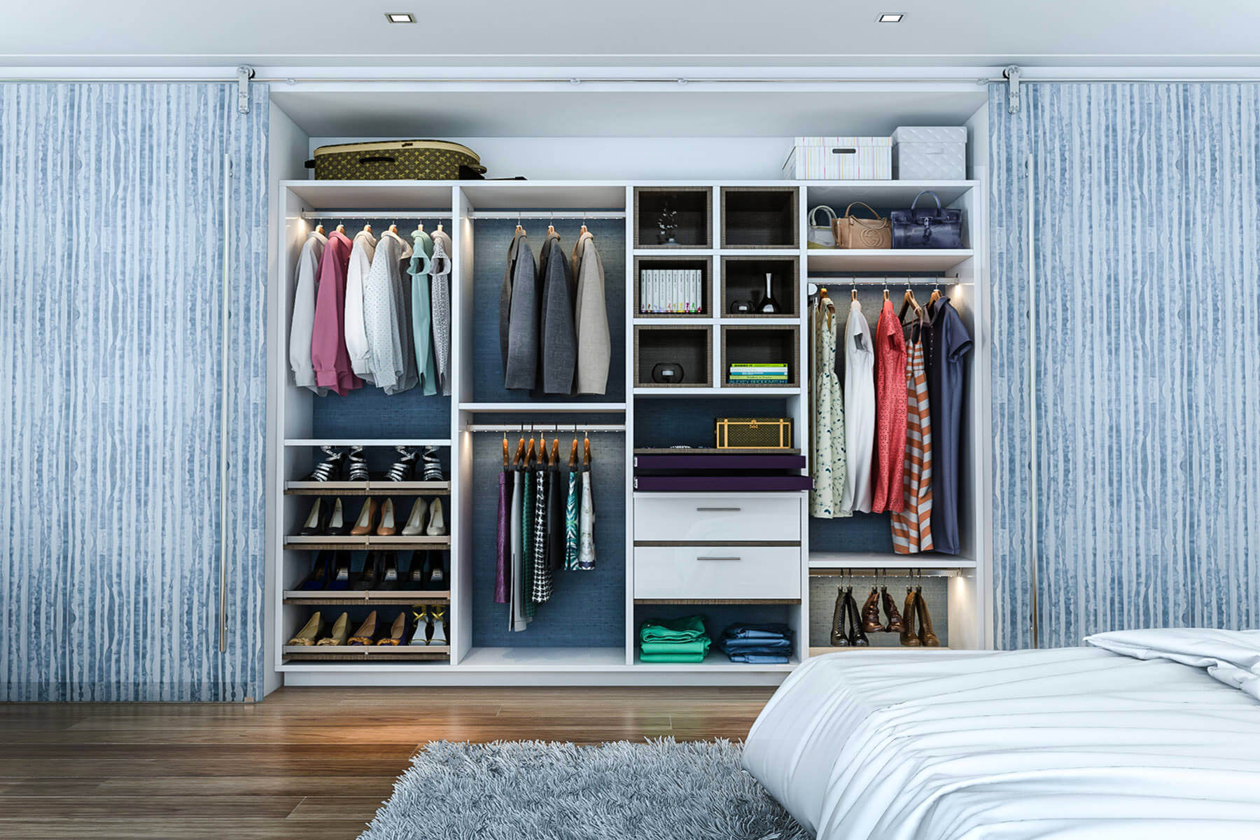 45 Custom Closet Organizer Ideas (Reach-In Design Photos)