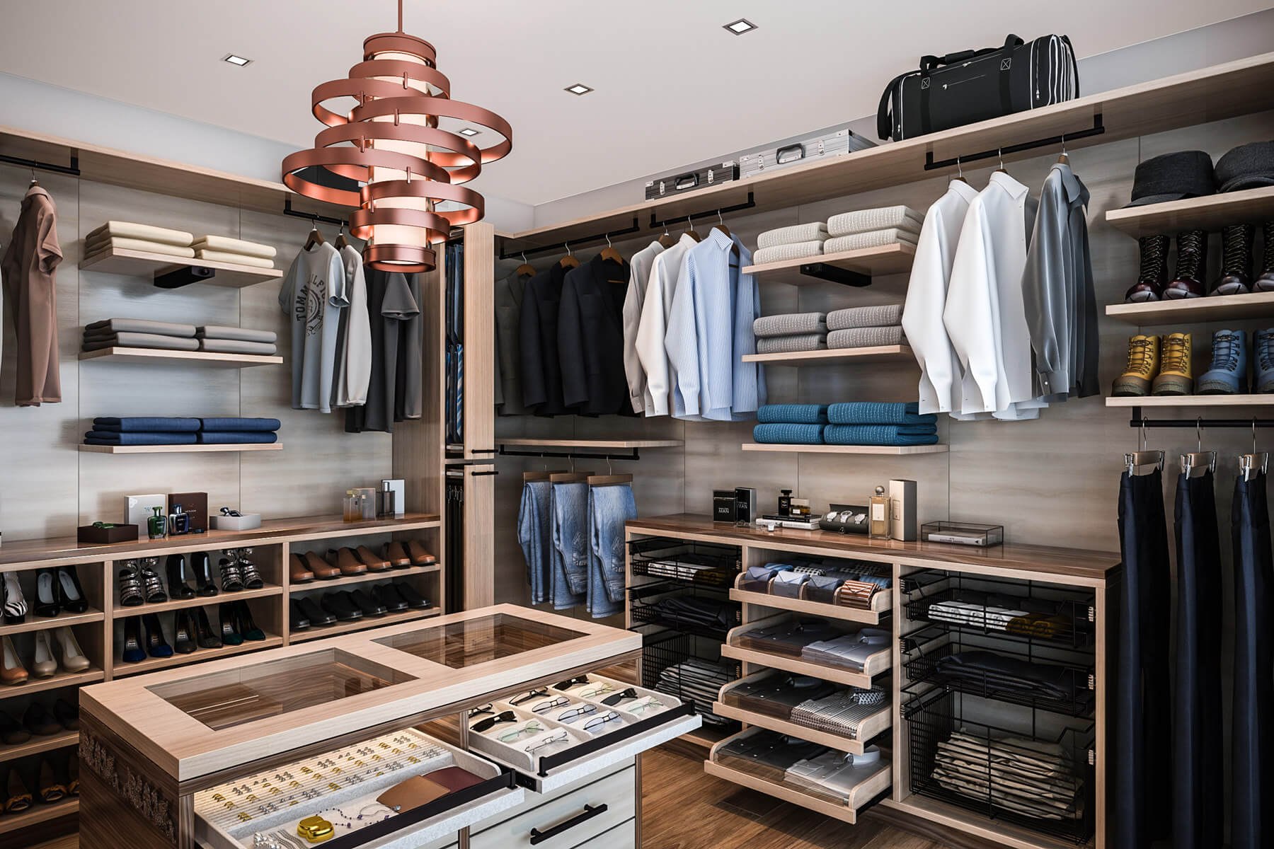 A Japanese Inspired Apartment With Plenty Storage Systems: 67 Reach-In And Walk-In Bedroom Closet Storage Systems
