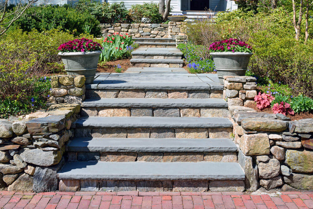 64 Outdoor Steps with Flower Planters and Pots Ideas ... on Backyard Steps Ideas id=87016