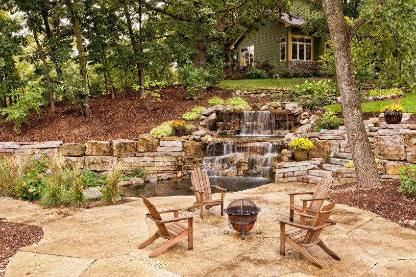 60 Outdoor Garden & Landscaping Step Ideas on Tiered Yard Landscaping id=92171