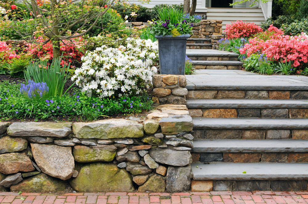 60 outdoor garden landscaping step ideas this flower garden is full of colorful perennial flowers and shrubs that line up the neat workwithnaturefo