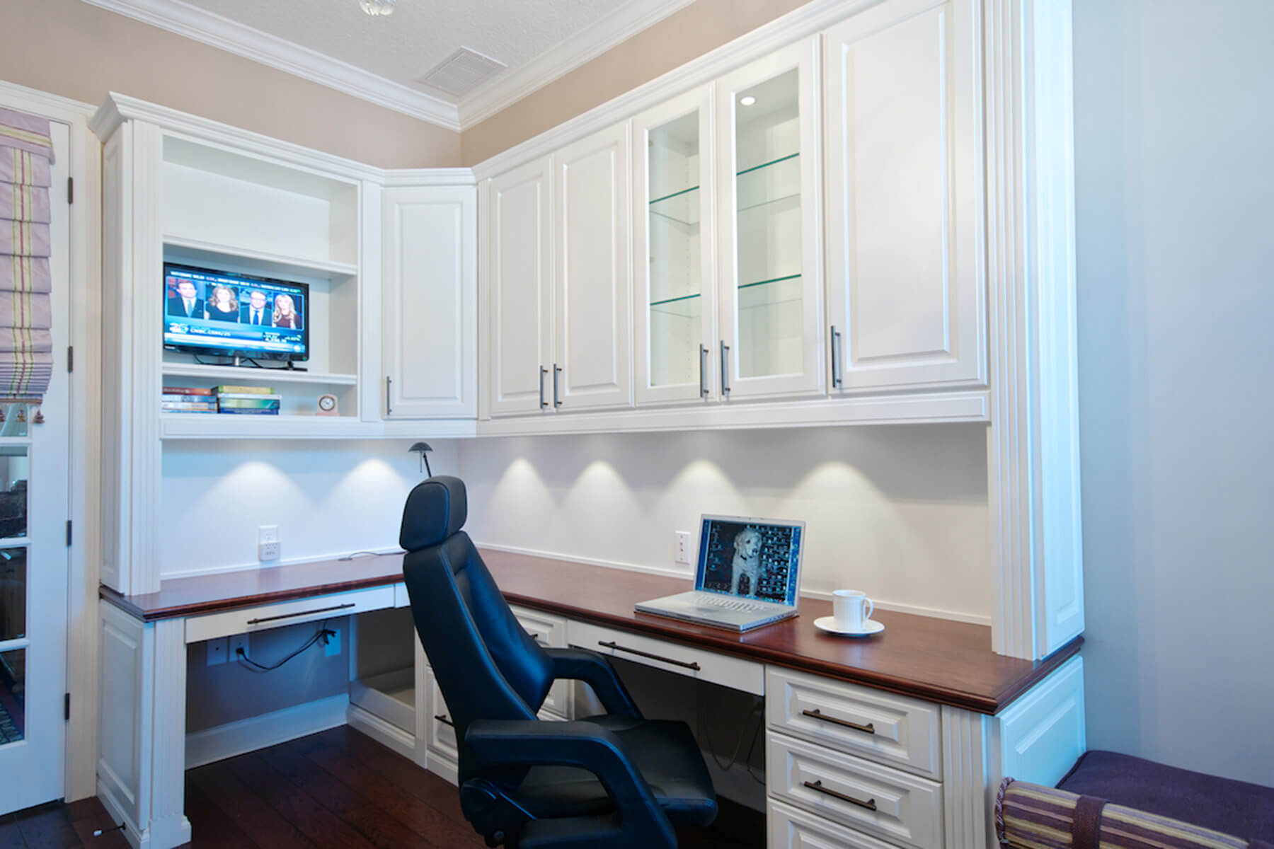 25 perfect custom built desks home office Built in desk