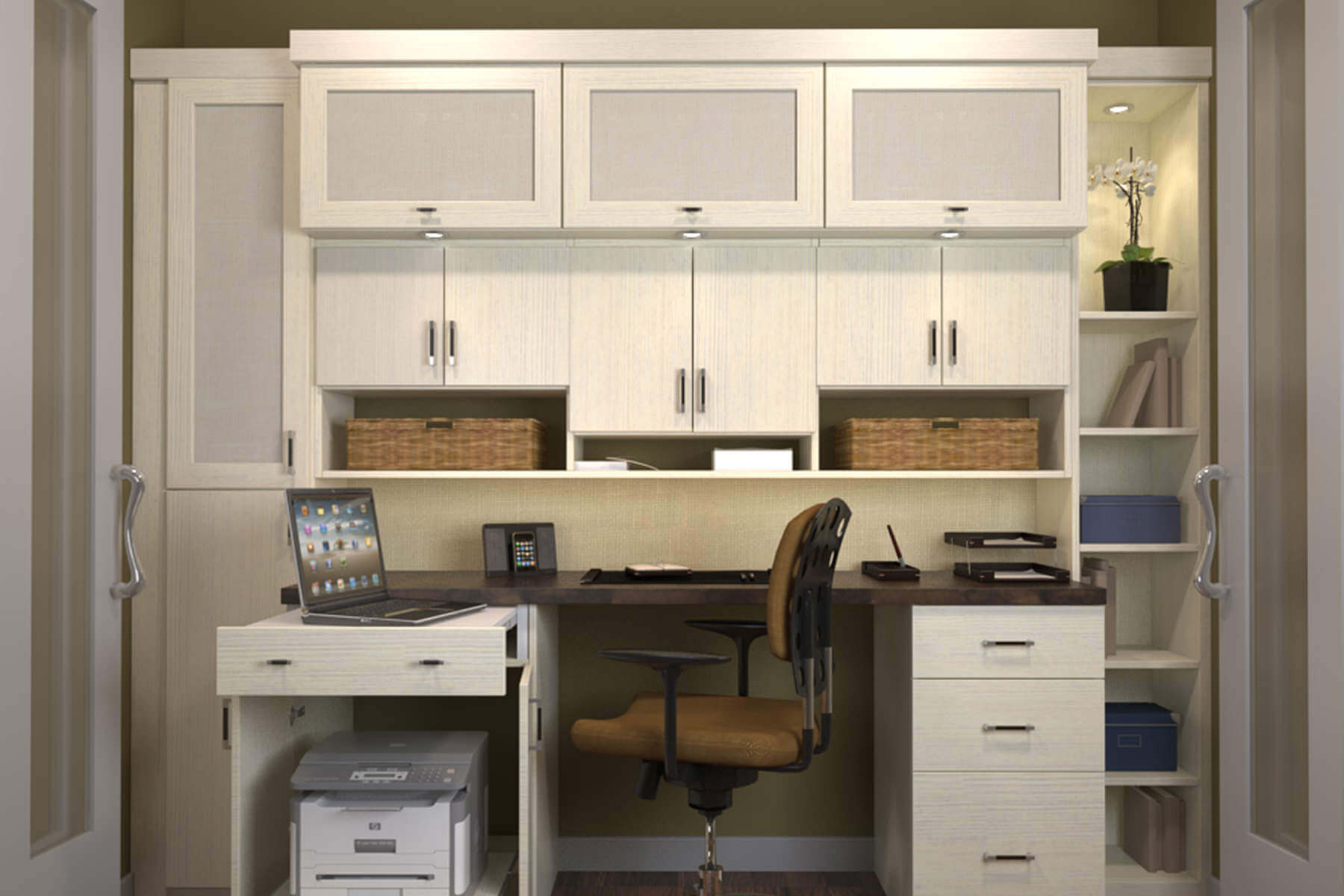 custom desks for home office. small efficient home office workstation custom desks for e