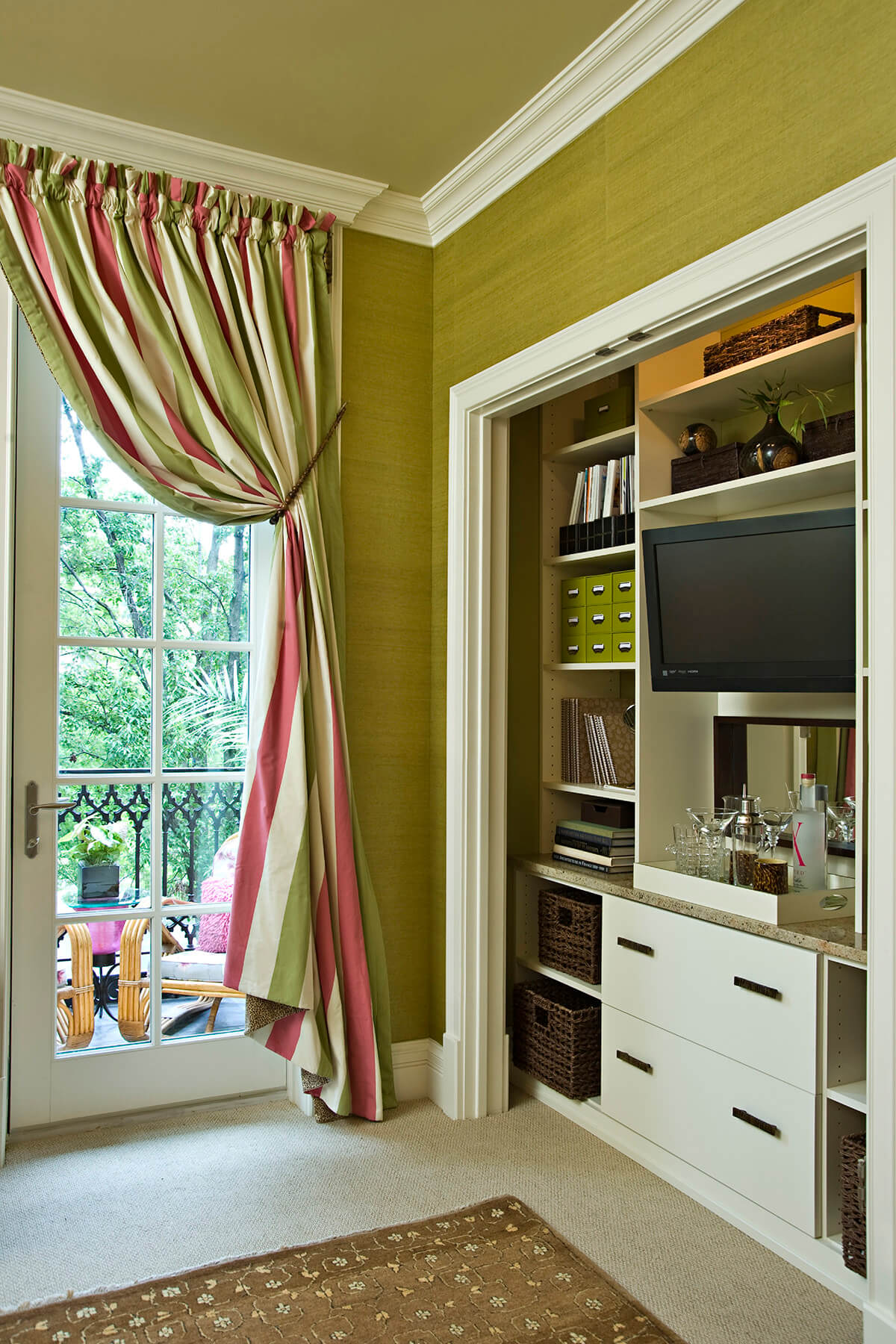 Handsome Home Office Storage in Room Closet