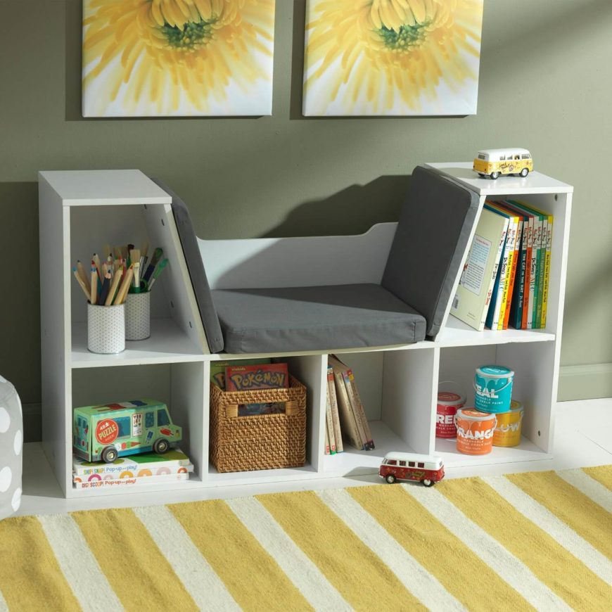 This piece of furniture does almost all the work that needs to be done in a reading nook. It acts as both a seat and a bookshelf. If you find a beautiful well-lit spot, you have an instant reading nook.