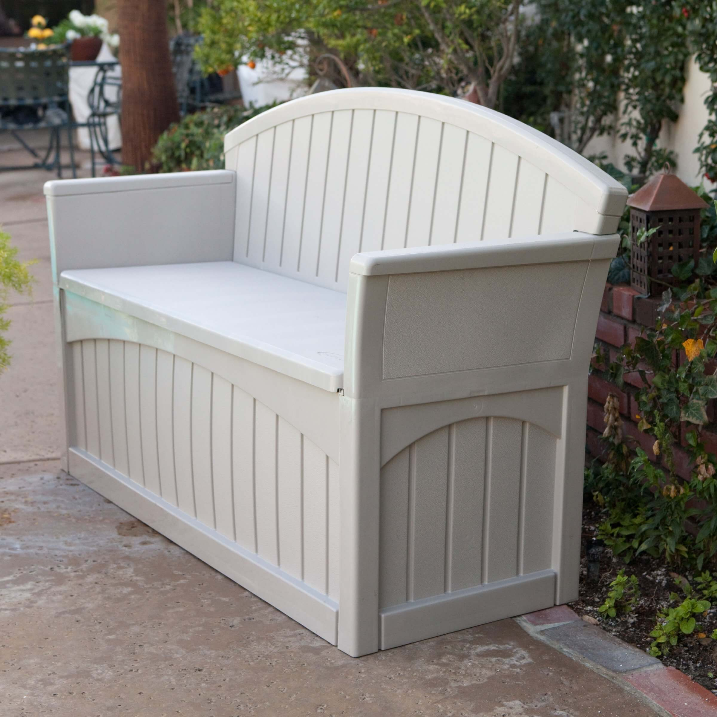 Store Seat Cushions, Towels, Outdoor Décor Or Garden Accessories In The  Under Seat Storage