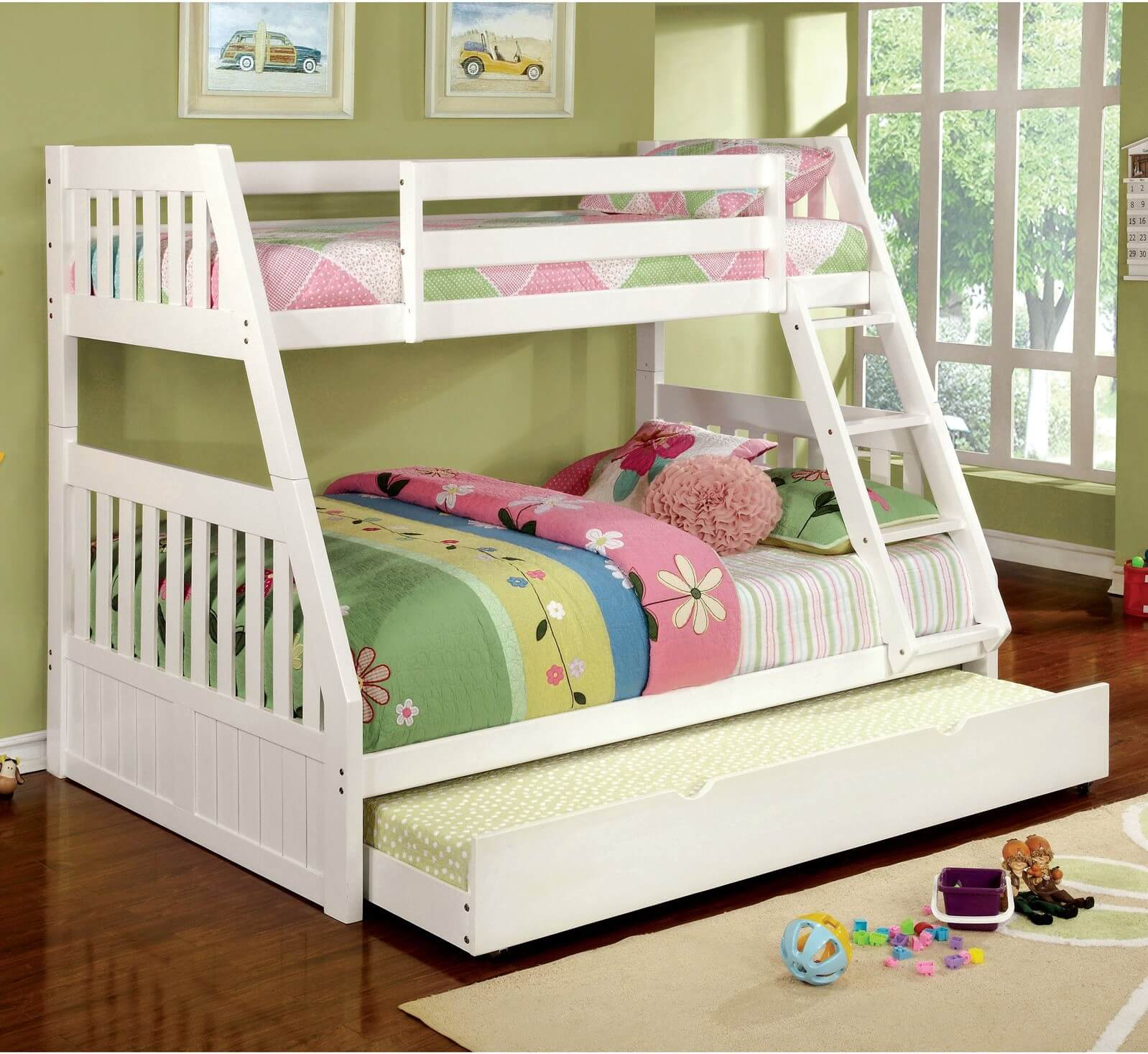 Advantages And Drawbacks Of Strong Wooden Loft Bed With Stairs Twin over Full Bunk Bed with Trundle Option