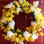 DIY Spring Flower Door Wreath (DIY Video and Tutorial)