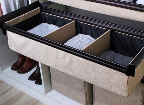 Conveniently fold your fabrics and keep them nicely folded with this alternative fabric clothing drawer. You can use them as storage too for a variety of items.