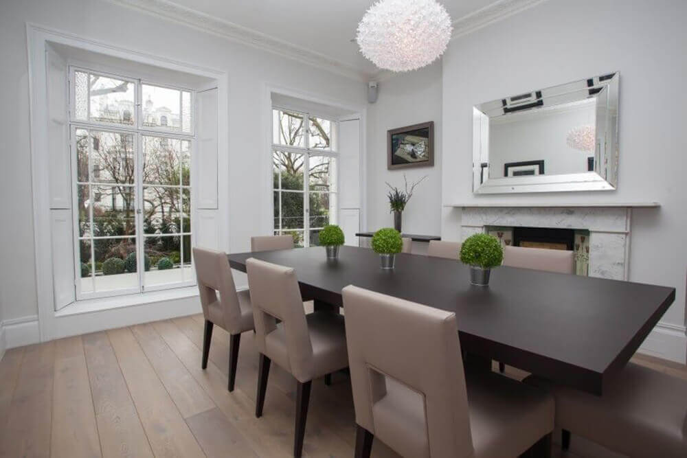 Dining Room Mirrors. Stunning Divine Dining Rooms The Real Estate ...