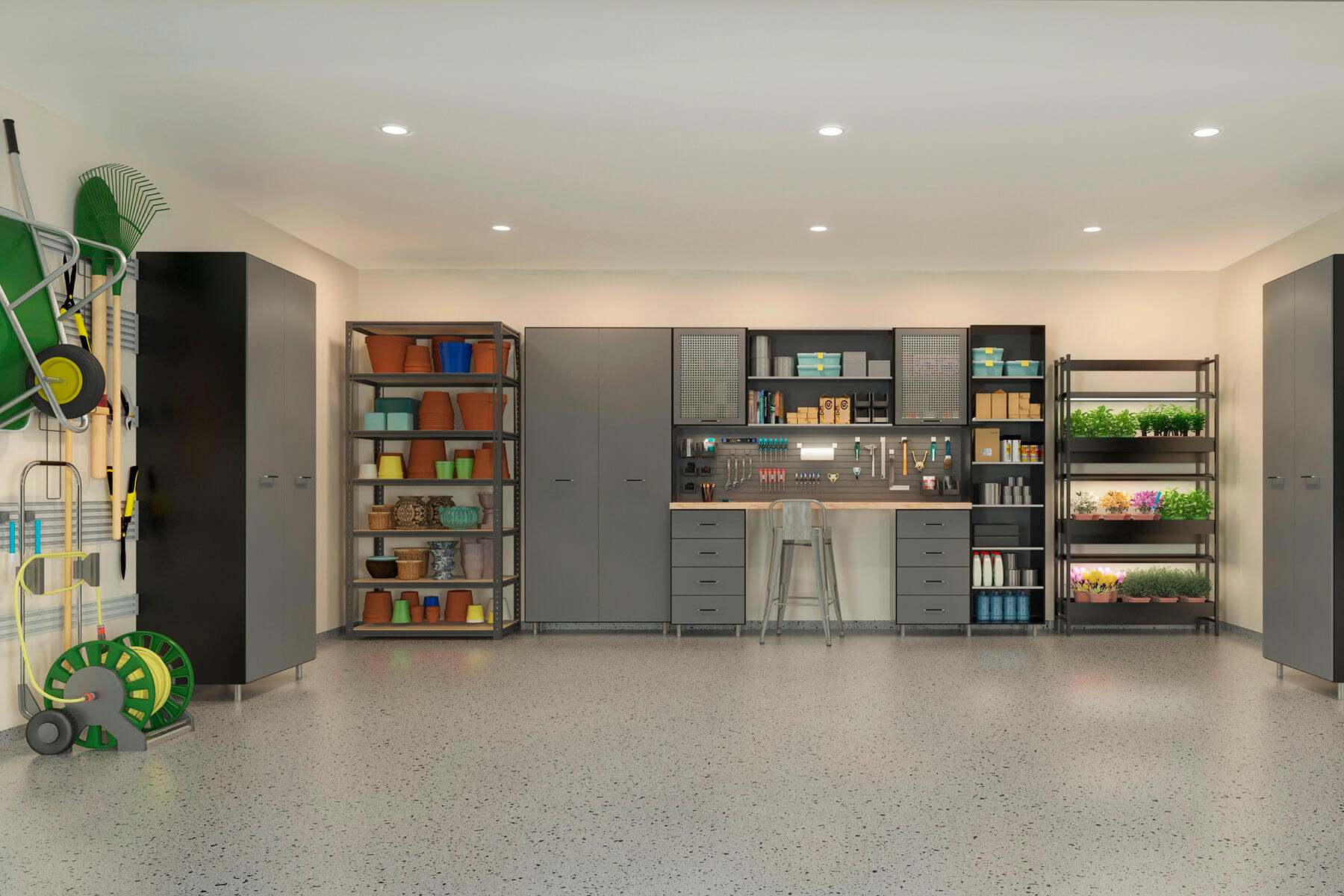 Small Kitchen Designs Inside Of A Garage