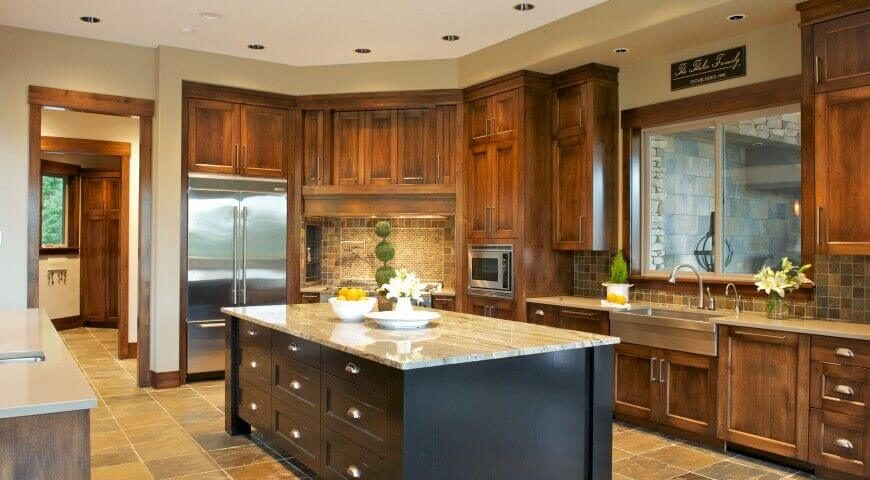 The Black Island Isnu0027t Something Youu0027ll See In Purely Craftsman Kitchens,