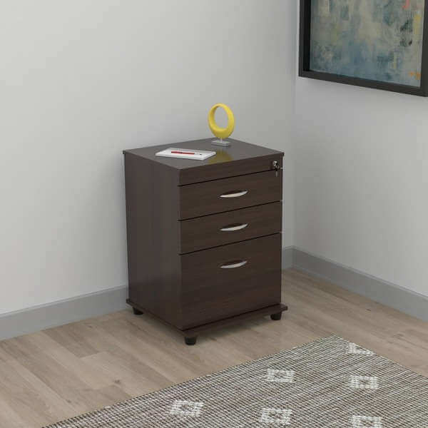 3drawer espresso file cabinet