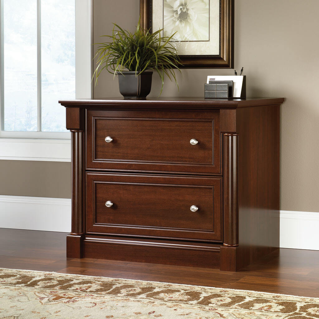 2-Drawer Filing Cabinet in Dark Brown