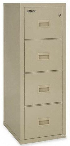 4-Drawer Insulated Fireproof Vertical Filing Cabinet