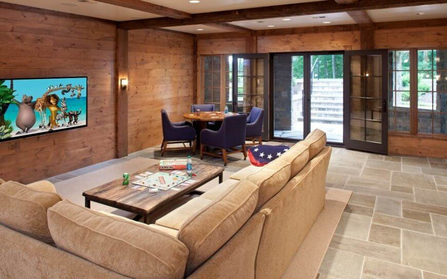 Horizontal Natural Wood Paneling Can Be A Gorgeous Addition To A Family Room .