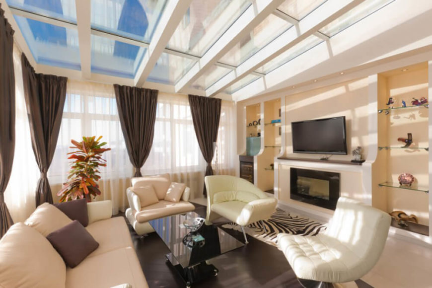 family room with spectacular skylights - Interior Design Cost For Living Room