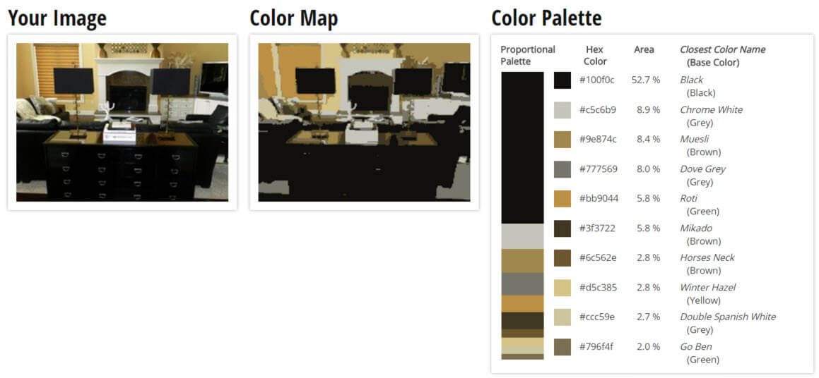 Color Palette for Black, Brown and Yellow Living Room Color Scheme
