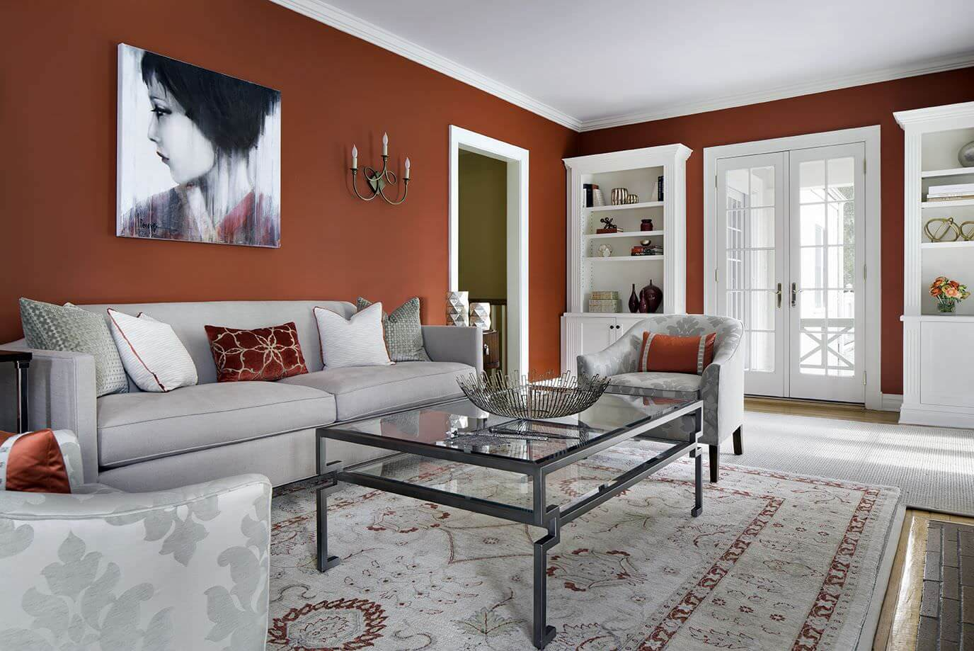 Red Living Room: 23 Living Room Color Scheme (Palette) Ideas