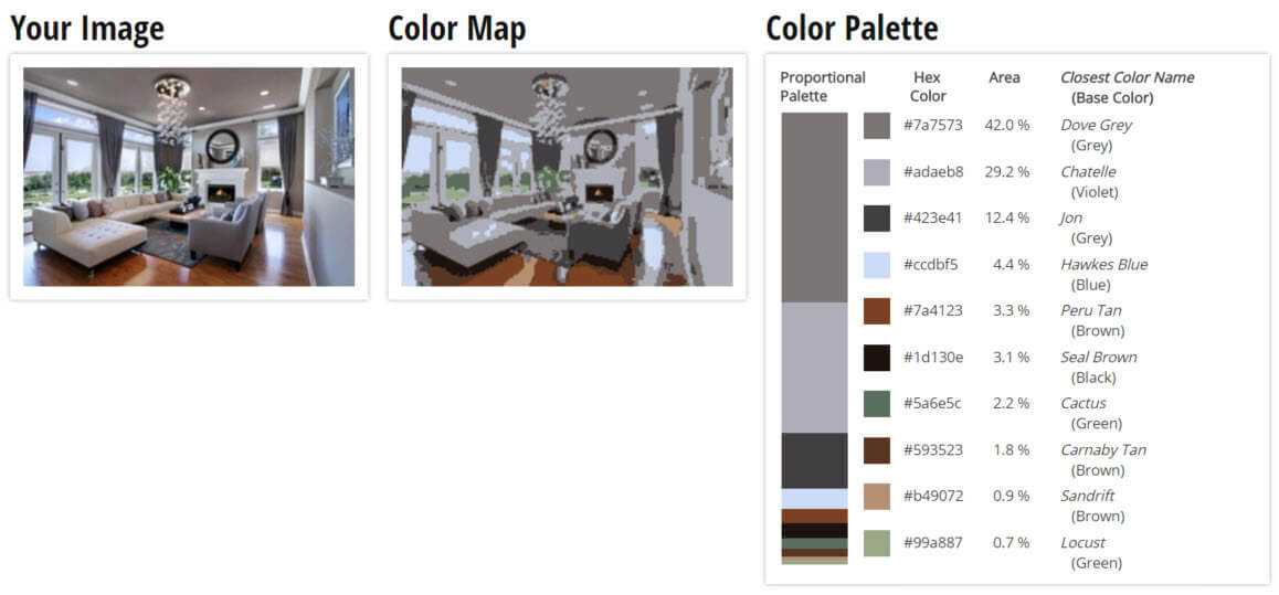 Color Palette for Grey and Violet Living Room Color Scheme