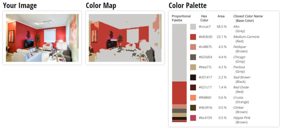 ... Color Palette For Red, Orange And Grey Living Room Color Scheme
