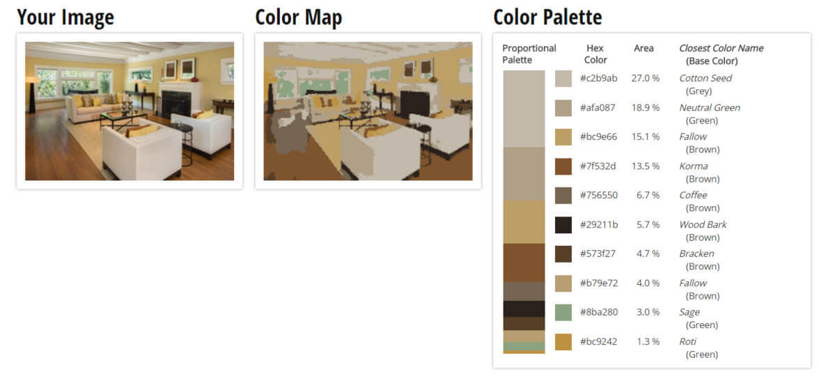 Color Palette for Brown and Grey Living Room Color Scheme