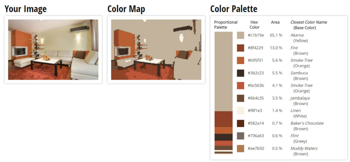 ... Color Palette For Yellow, Orange And Brown Living Room Color Scheme