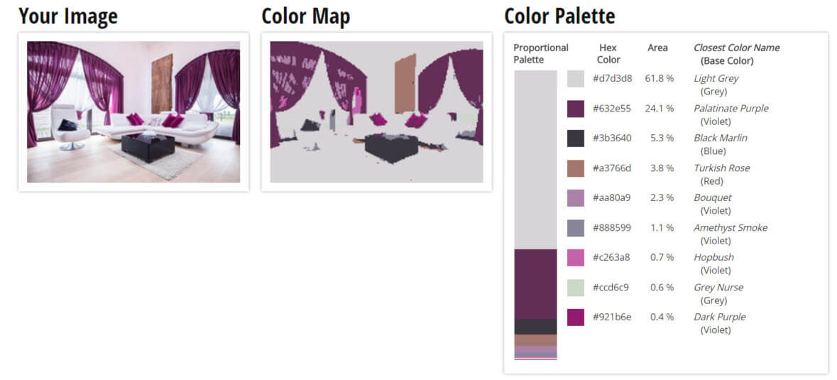 Color Palette for Violet and Grey Living Room Color Scheme