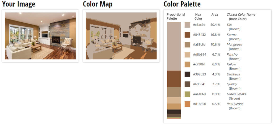 Color Palette for Brown Living Room Color Scheme