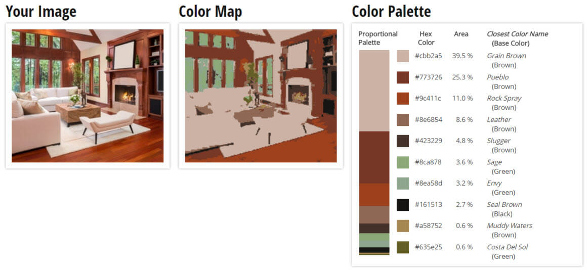 Color Palette for Country Brown Living Room Color Scheme
