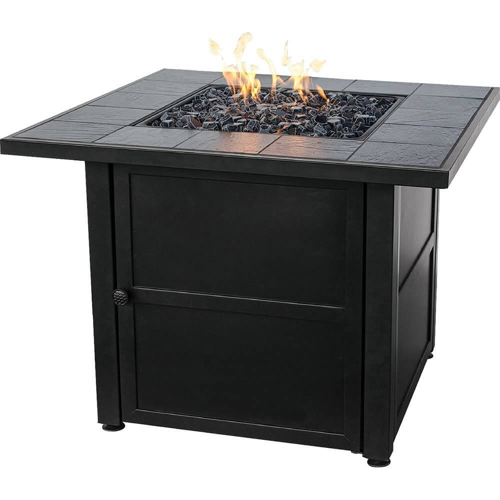 Square Propane Patio Fire Pit With Table Space