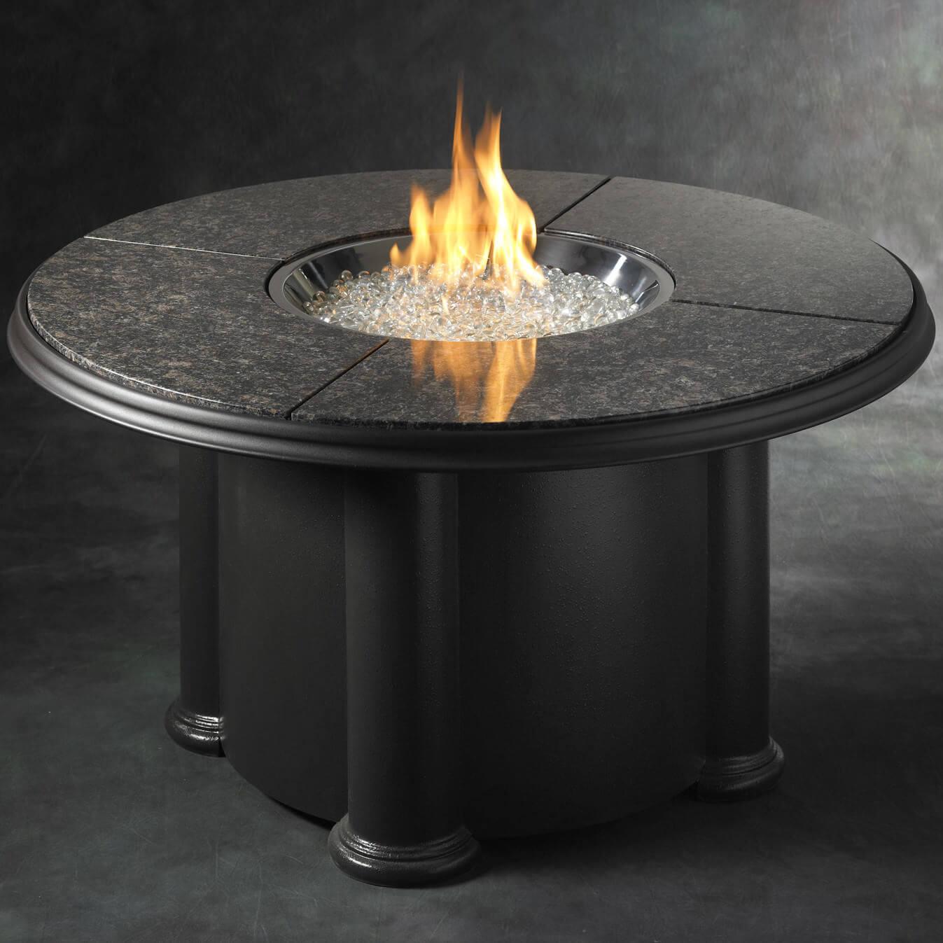 Top 15 types of propane patio fire pits with table buying guide classic is always the best and this black granite round table that reminds you of a geotapseo Image collections