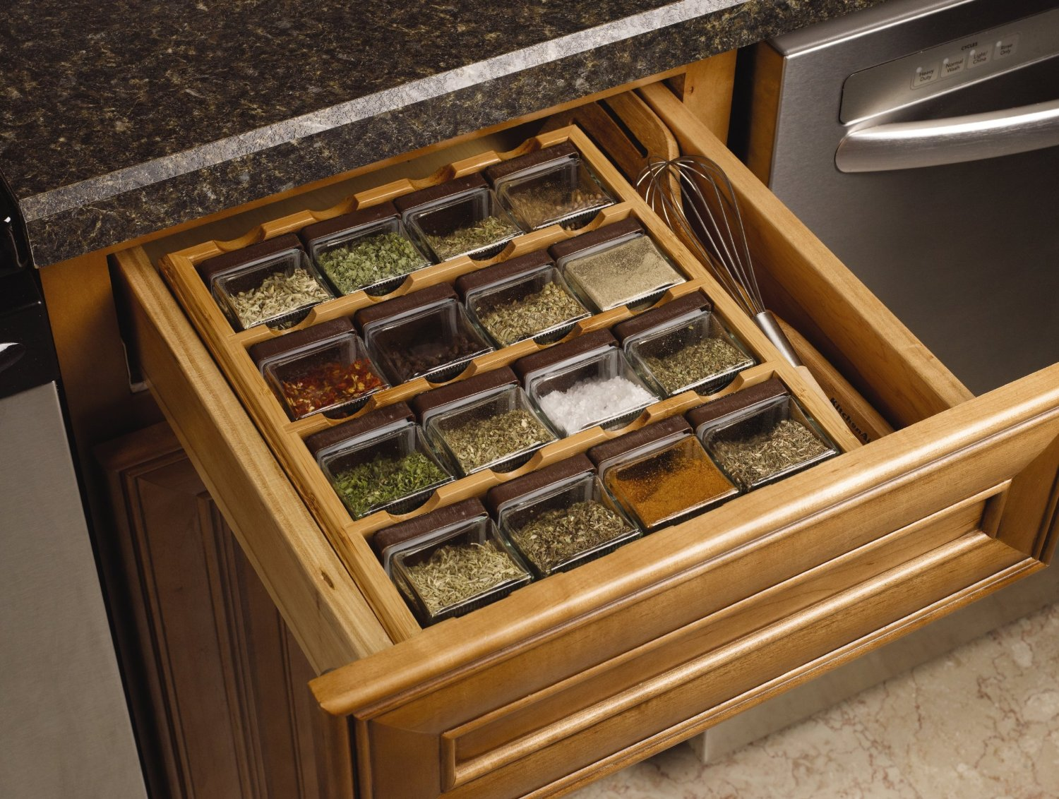 Cube Drawer Spice Rack