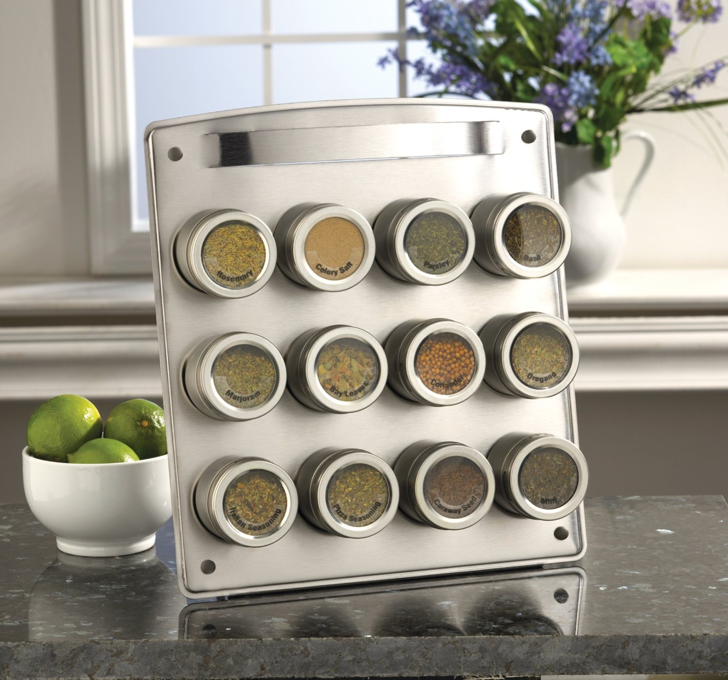 12-Tin Magnetic Spice Rack