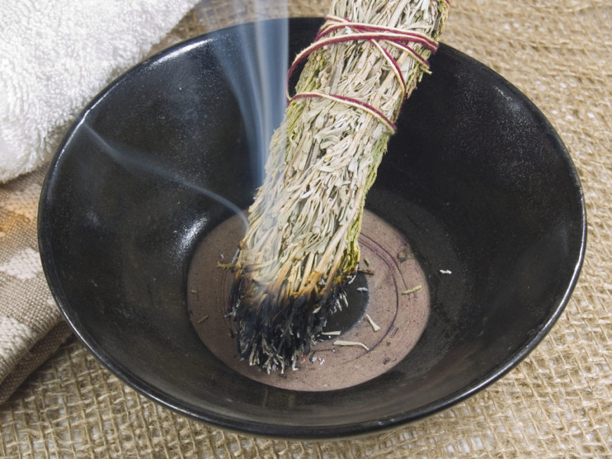 Herbs, in particular white sage, have been used for centuries of human history in an attempt to keep negative energies at bay. Beyond its folklore origins, it's also supposedly a great way to calm nerves and release tension, clearing the air after arguments or other tumultuous events.