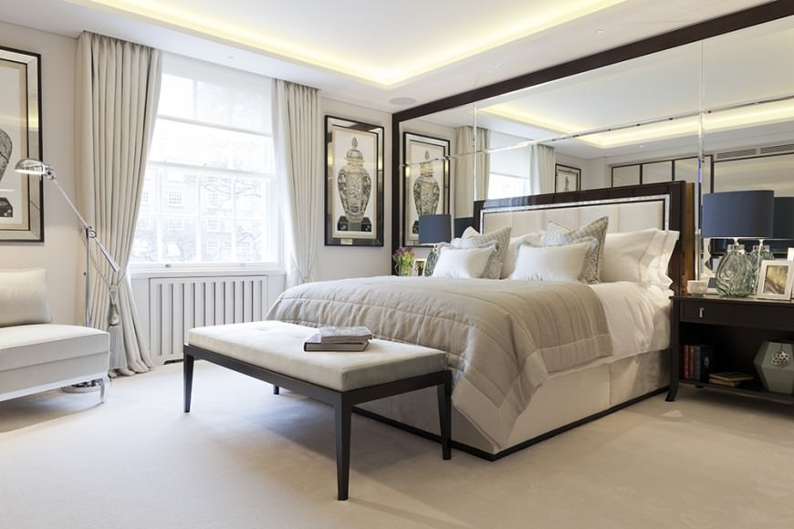 Neutral Tones In Combination With White Carpet That Runs Through The Entire  Room Makes It Really