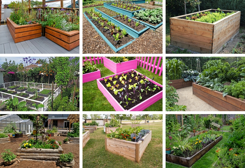 32 raised wooden garden bed designs examples for Garden design examples