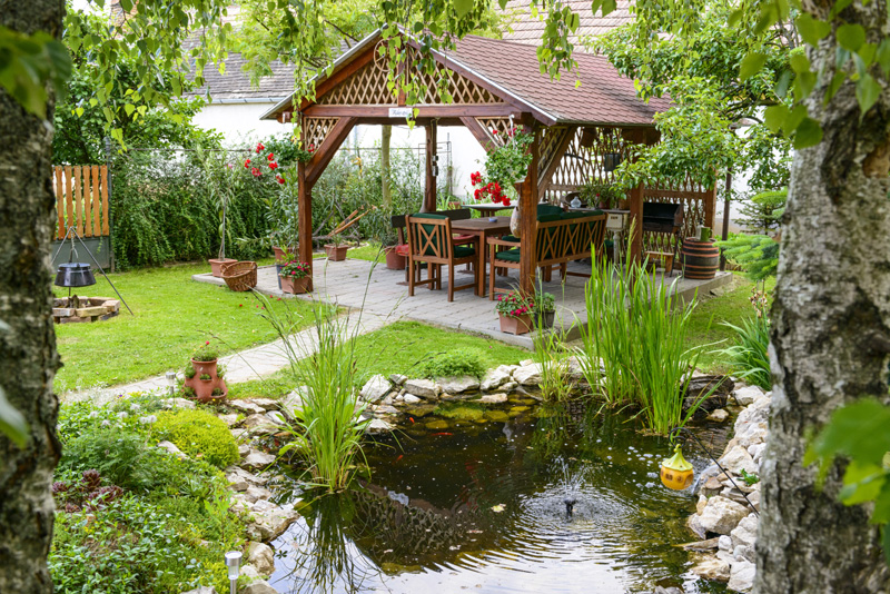35 backyard pond images great landscaping ideas for Garden design features