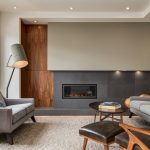 Contemporary Interior Design with Extensive Walnut Millwork by Deana Lewis