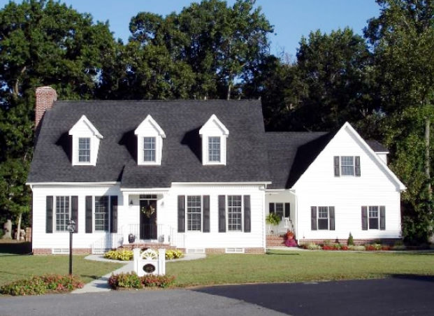 32 types of architectural styles for the home modern for Pictures of cape cod style homes
