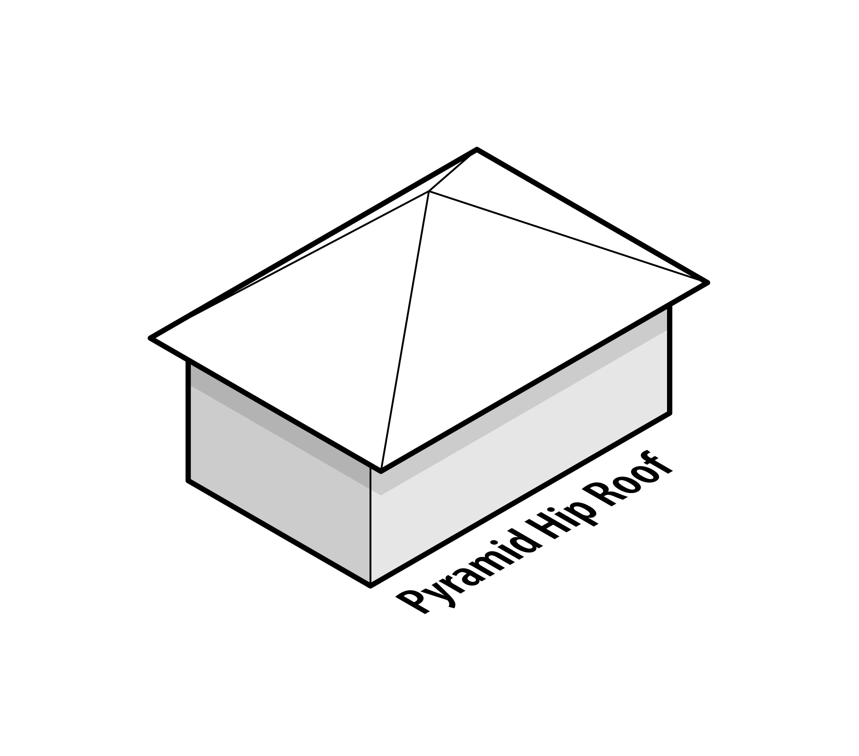 Pyramid hip roof the image kid has it for Hip roof design plans