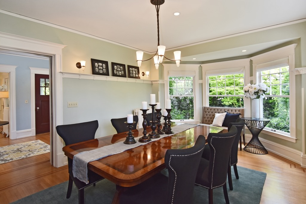 Updated dining room in an American Foursquare Home