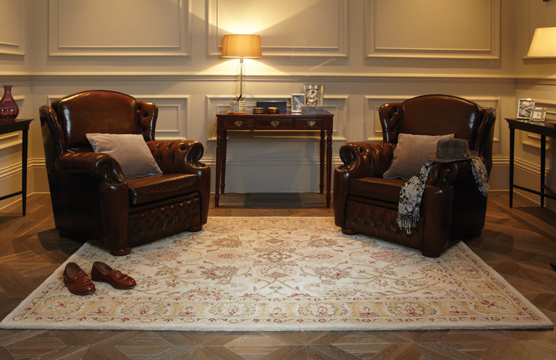 Rug decor that matches the room furniture