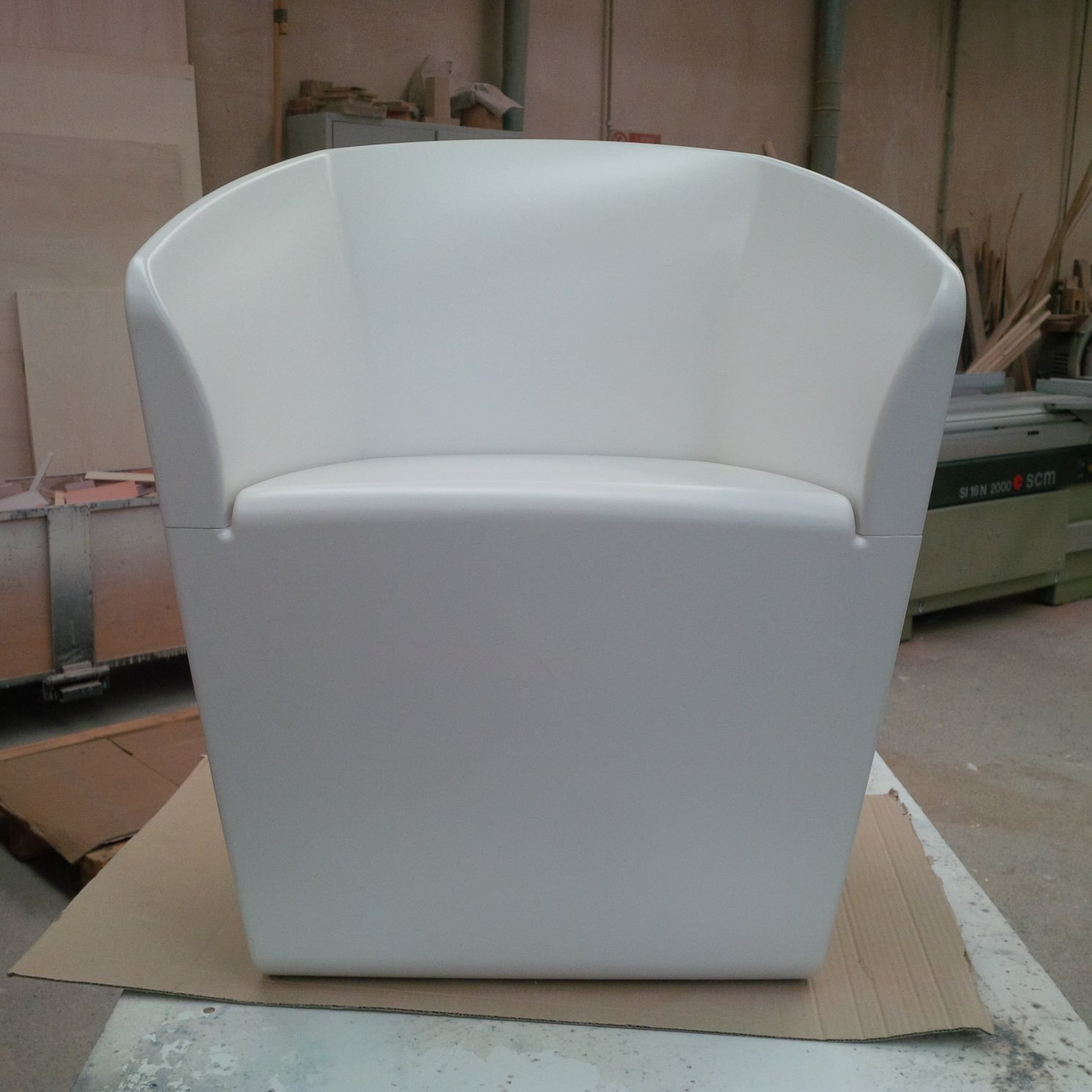 Mould of chair before making the chair for manufacturing