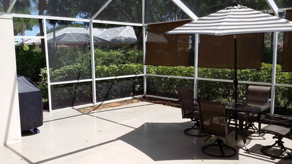 Patio Enclosed with Screen