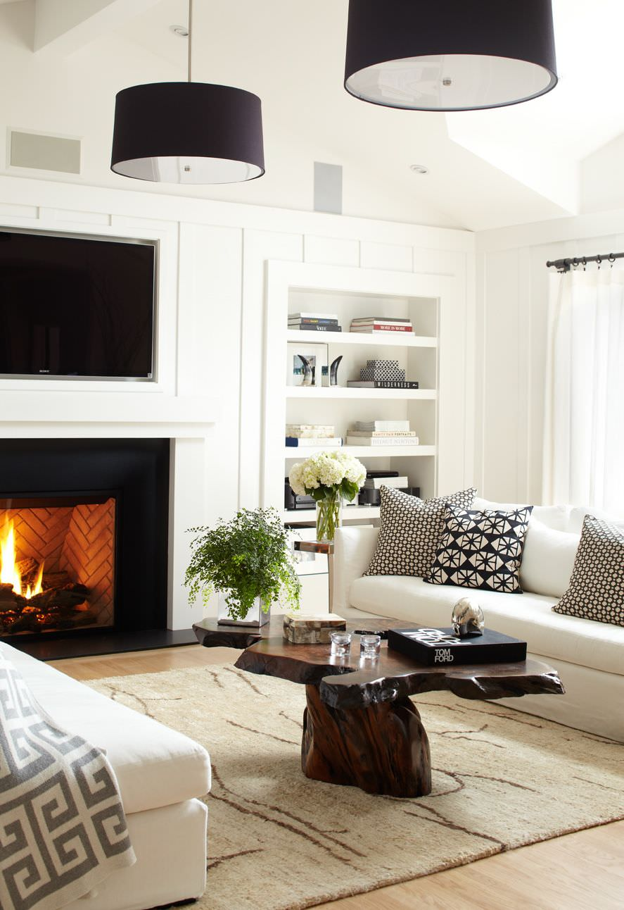 Decorate Living Room With One Window: 72 Living Rooms With White Furniture (Sofas And Chairs